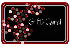 Black and Red Shopping Card. Gift card for shopping drawn in Illustrator CS2 Royalty Free Stock Photo