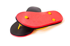 Black and red slipper Stock Photo