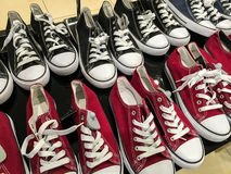 Black And Red Sneakers Royalty Free Stock Photography
