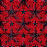 Black and red stars on a red background. seamless pattern. vector illustration.  Royalty Free Stock Photos