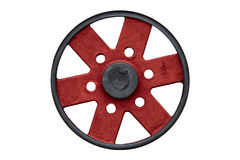 Black and red steel wheel Stock Images