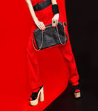 Black and red style fashion lady Royalty Free Stock Images