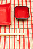 Black and red sushi set Stock Photography