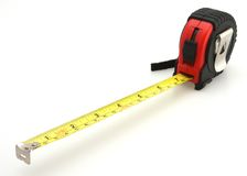 Black and Red Tape Measure. White Background royalty free stock images
