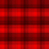 Black and red tartan plaid background. In vector seamless pattern. Pattern swatches included in file Royalty Free Illustration
