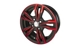 Black and Red Tire Rim Royalty Free Stock Photos