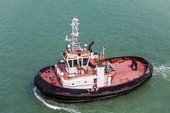 Black and Red Tugboat Royalty Free Stock Images