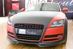 Black and red tuning sport car Audi Stock Image