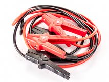 Black and red jump leads Stock Image