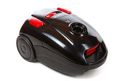 Black and red vacuum cleaner isolated Royalty Free Stock Photo
