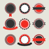 Black and red vintage badges templates Royalty Free Stock Photo