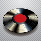 Black red vinyl Royalty Free Stock Image
