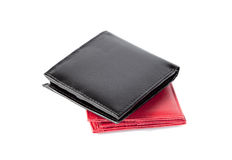 Black and red Wallet Royalty Free Stock Images