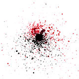 Black and red water color spashes and dots Royalty Free Stock Photos