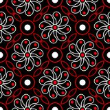 Black red and white floral seamless pattern. Wallpaper background. Black red and white floral seamless pattern. Wallpaper, textile and fabrics background royalty free illustration