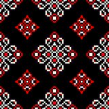 Black red and white floral seamless pattern. Wallpaper background. Black red and white floral seamless pattern. Wallpaper, textile and fabrics background vector illustration