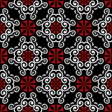 Black red and white flower elements. Seamless background. For wallpapers Royalty Free Stock Photos