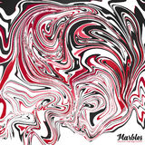 Black, red and white marble abstract vector background Royalty Free Stock Image