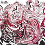 Black, red and white marble abstract vector background Royalty Free Stock Photos