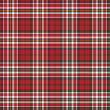 Black, red and white plaid background Stock Photos