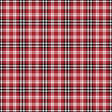 Black, red and white plaid seamless pattern Royalty Free Stock Image
