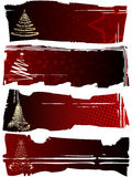 Black-red winter banners Royalty Free Stock Images