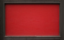 Black and red wooden frame Stock Image