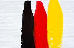 Black - Red - Yellow Stock Photography