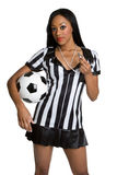 Black Referee Woman Stock Photos