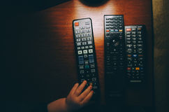 Black Remote Control Royalty Free Stock Image
