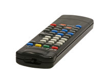 Black remote control closeup. Stock Image