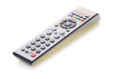 Black remote control isolted on white Royalty Free Stock Photography