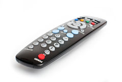 Black remote control on white background Stock Image