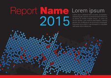 Black Report cover 2015. Black Report cover for your company 2015 Stock Photos