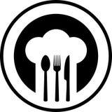 Black restaurant sign Royalty Free Stock Photos