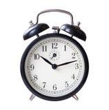 Black retro alarm clock Stock Photos