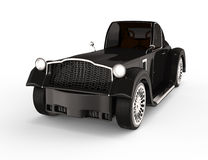 Black retro car. On white background. 3d rendered image. my own design Royalty Free Stock Images
