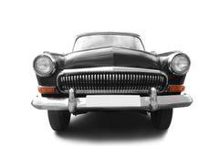 Black retro car. Isolated on white Royalty Free Stock Photo