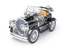 1910 black retro car. On a white background in steampunk style Royalty Free Stock Images