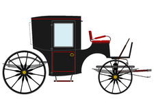 Black Retro Carriage. Royalty Free Stock Image