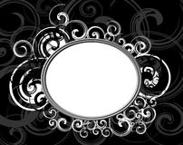 Black Retro frame. With Abstract background Royalty Free Stock Photography