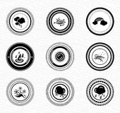 Black retro labels and badges: nature Stock Photography