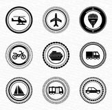 Black retro labels and badges: transportation Stock Photo
