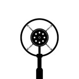 Black retro microphone on white background Royalty Free Stock Photography