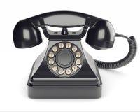 Black retro phone Royalty Free Stock Photo