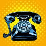 Black retro phone Royalty Free Stock Image