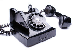 Black retro phone stock image