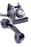Black retro phone stock photography