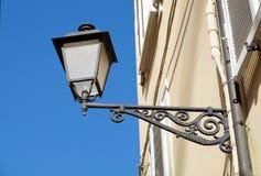 Black Retro street lamps under blue sky Royalty Free Stock Photo
