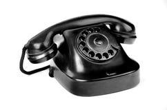 Black retro-styled phone isolated on white Royalty Free Stock Image